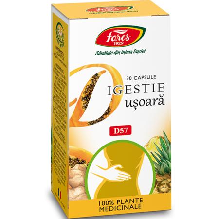 Fares Digestie Usoara, 30 de capsule