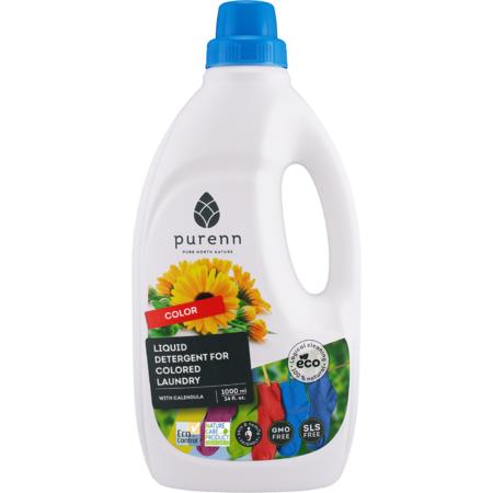 Detergent Lichid pentru Rufe Colorate cu Galbenele, Eco, Bio Purenn 1 Litru