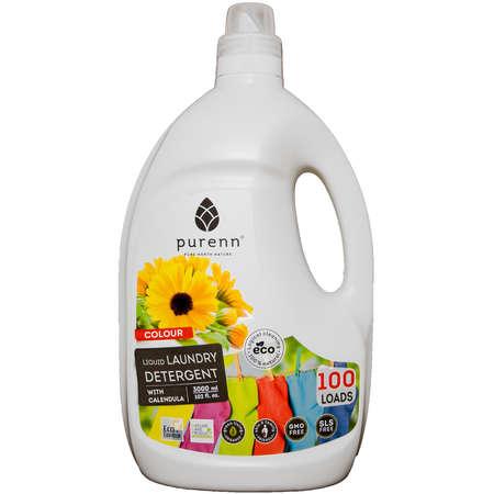 Detergent Lichid pentru Rufe Colorate cu Galbenele, Eco, Bio Purenn 3 Litri