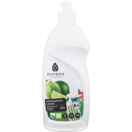 Detergent Lichid pentru Spalat Vase cu Afine si Lime, Eco, Bio Purenn 500 mililitri