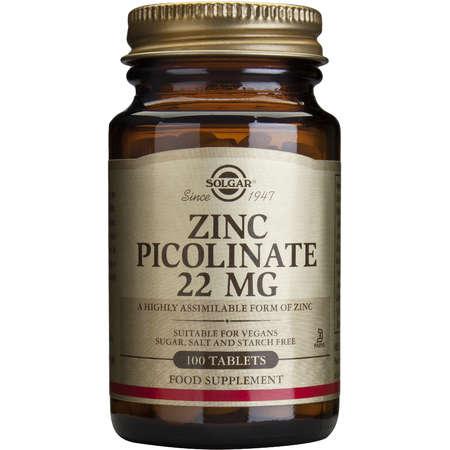 Solgar Zinc Picolinate 22mg 100 tablete