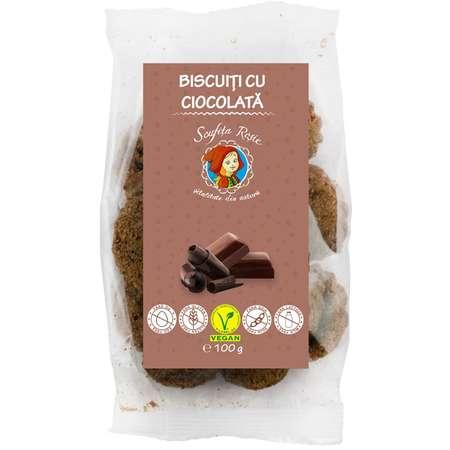 Biscuiti Scufita Rosie cu Ciocolata 100 grame