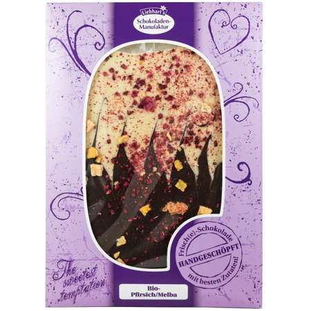 Ciocolata artizanala BIO Liebhart's Gesundkost cu Piersici / Melba fara gluten 150 grame