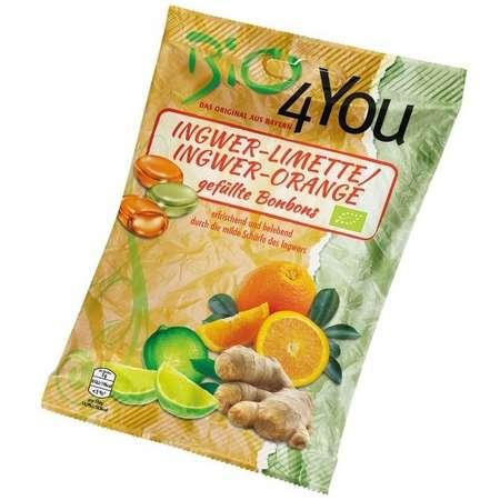 Dropsuri BIO din ghimbir lime si ghimbir portocale Bio4You 75 grame