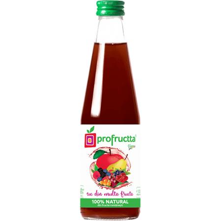 Suc din multe fructe PROFRUCTTA Natural 100% 0.33 litri