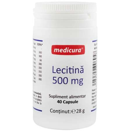 Lecitina 500 mg Medicura 40 capsule