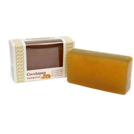 Sapun transparent cu miere de albine si ulei volatil de melisa Manicos / Verre de Nature 50 grame