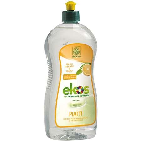 Solutie ECO pentru spalat vase/biberoane cu portocale Ekos 750 ml