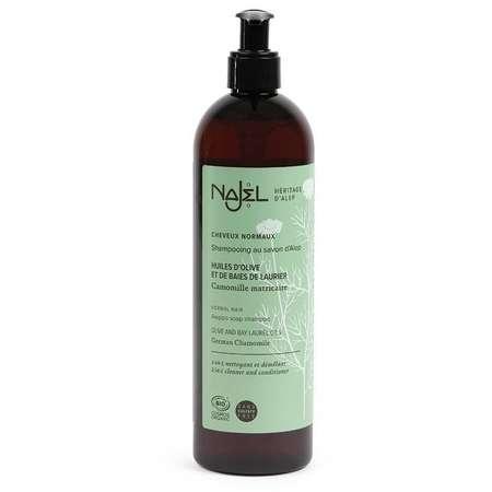 Sampon Bio 2 in 1 cu sapun de Alep NAJEL pentru par normal 500 ml