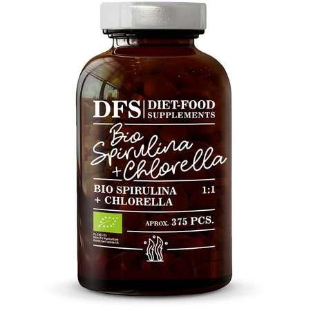 Bio Spirulina + Chlorella Diet-Food 375 tablete x 400mg 150 grame