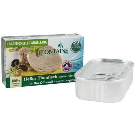 File de ton in ulei de masline extravirgin Bio Fontaine bucati intregi 120 grame