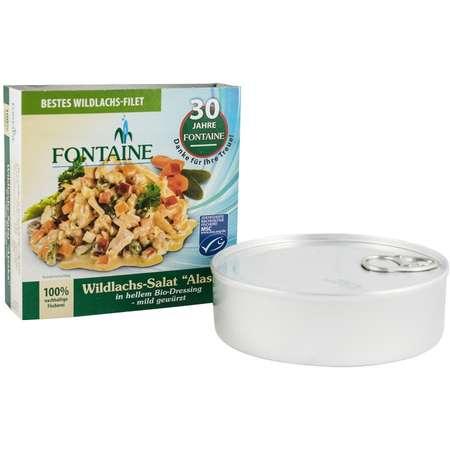 Salata de somon salbatic in sos alb Bio Fontaine Alaska 200 grame
