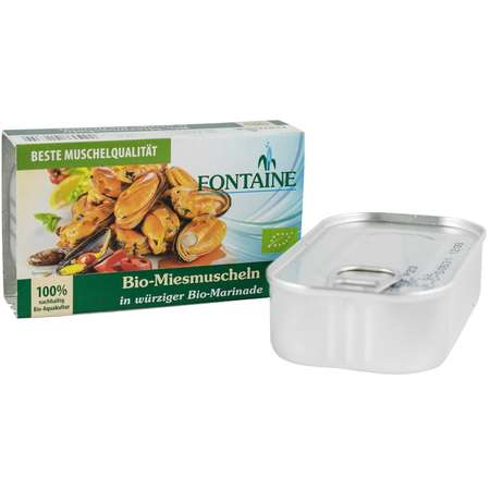 Midii Bio in sos marinade Fontaine 120 grame