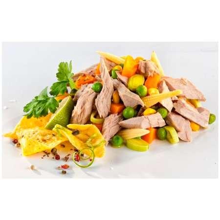 Salata de ton Texas cu legume Bio si ulei de floarea soarelui presat la rece Fontaine 200 grame