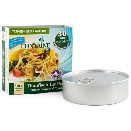 Ton pentru paste cu masline, capere si rosii Fontaine 200 grame