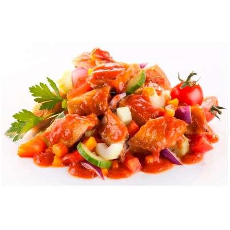 Salata de macrou Toscana cu legume Bio si ulei de floarea soarelui presat la rece Fontaine 200 grame