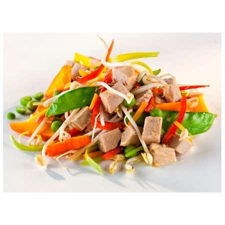 Salata de ton Asia cu legume Bio si ulei de floarea soarelui presat la rece Fontaine 200 grame