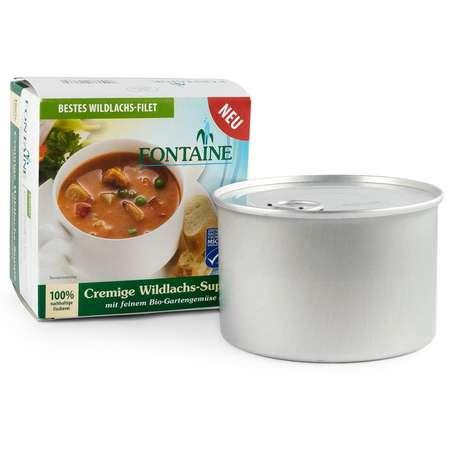 Supa crema de somon salbatic cu legume fine de gradina Bio Fontaine 400 ml