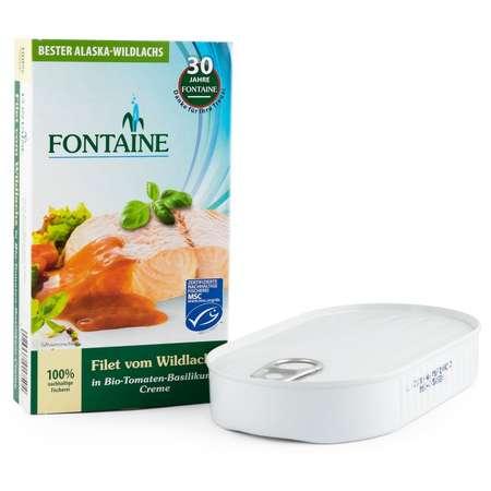 File de somon salbatic in sos de rosii Bio si sos de busuioc Fontaine 200 grame