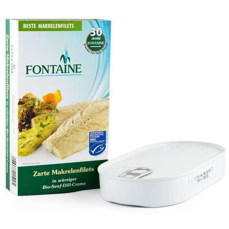 File de macrou fraged in sos picant de mustar Bio Fontaine 200 grame
