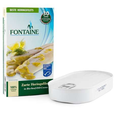 File de hering fraged in sos Bio cu mustar si marar Fontaine 200 grame