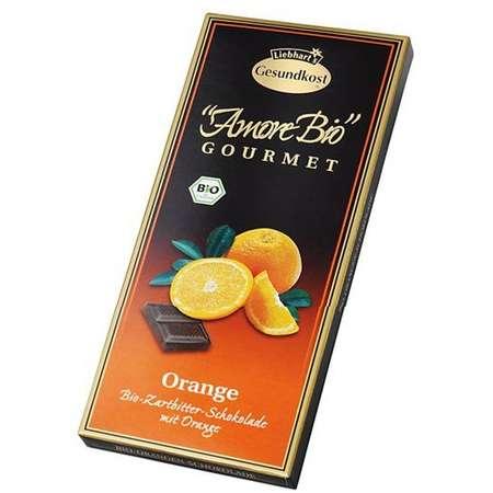 Ciocolata amaruie cu portocale, 55% cacao Liebhart's Gesundkost 100 grame