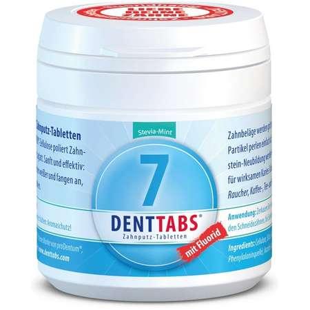 Tablete pentru curatarea dintilor cu menta si stevie, cu fluor Denttabs 125 tablete