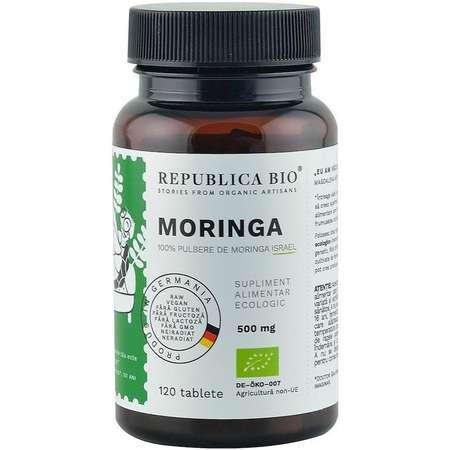 Moringa bio din Israel (500 mg), 120 tablete Republica Bio 60 grame