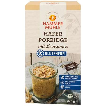 Terci ecologic de ovaz fara gluten cu seminte de in Hammer Muhle 375 grame