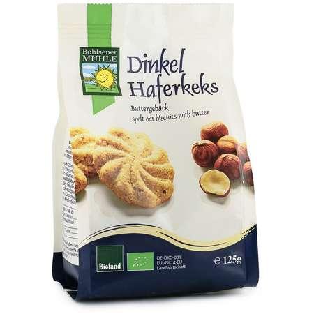 Biscuiti Bio din faina de grau spelta, cu ovaz si unt Bohlsener M 125 grame