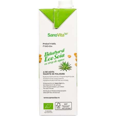 Eco Bautura Soia cu sirop de agave (fara zahar ) Sanovita 1 Litru