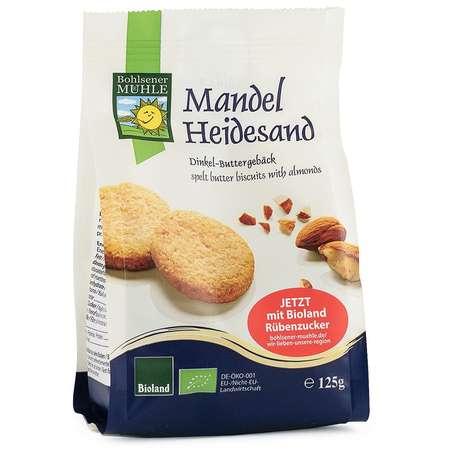 Biscuiti Bio din faina de grau spelta, cu unt si migdale Bohlsener M 125 grame