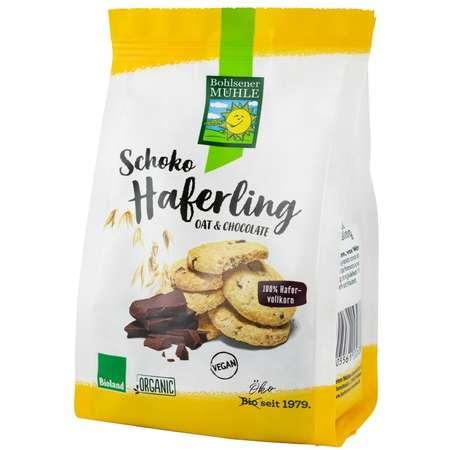 Haferling Biscuiti Bio crocanti din ovaz cu bucatele de ciocolata Bohlsener M 125 grame