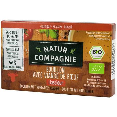 Supa bio cu carne de vita Natur Compagnie 96 grame