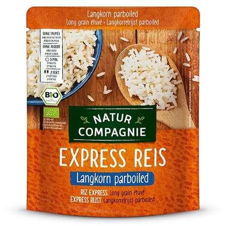 Orez BIO cu bob lung, prefiert, Express Reis Natur Compagnie 250 grame