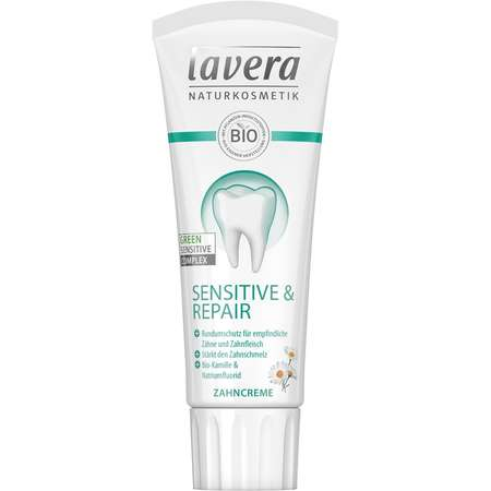 Pasta de dinti bio cu musetel sensitive & repair Lavera & Sante 75 ml