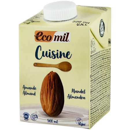 Crema vegetala din migdale gatit Ecomil 500 ml