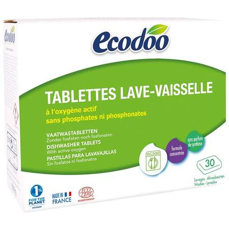 Tablete pentru masina de spalat vase Ecodoo 30x20g certificate Bio