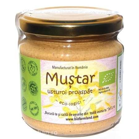 Mustar cu Usturoi Proaspat BioFarmLand 195 grame