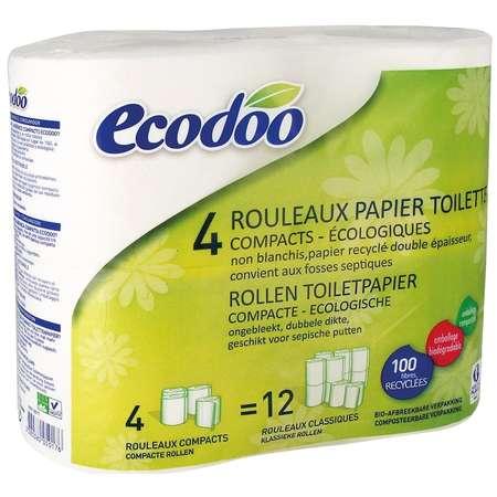 Hartie igienica compacta Ecodoo 4 role 750g