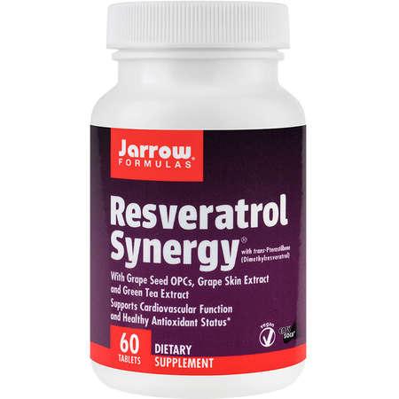 Supliment alimentar Resveratrol Synergy Jarrow Formulas 60 tablete Easy-Solv