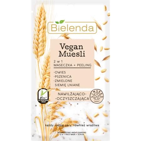 Masca hidratanta 2 in 1, cu ovaz + grau + seminte de In, Bielenda 8 grame