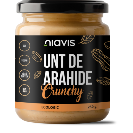 Unt de arahide crunchy, Bio, Niavis 250 grame