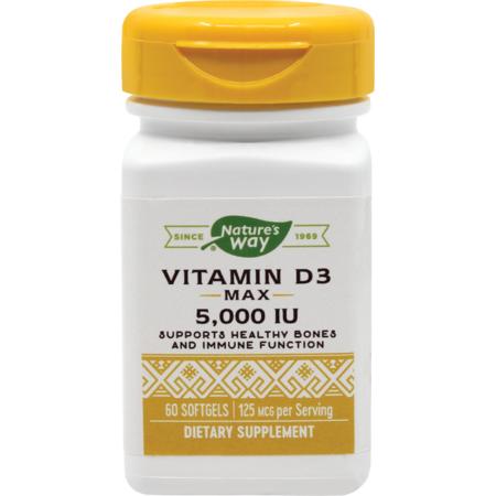 Supliment alimentar Vitamin D3 5000UI Nature's Way 60 capsule