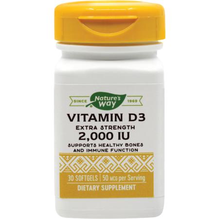 Supliment alimentar Vitamin D3 2000UI Nature's Way 30 capsule