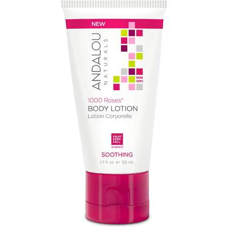 Lotiune de corp 1000 Roses Soothing Body Lotion Andalou Naturals 50ml