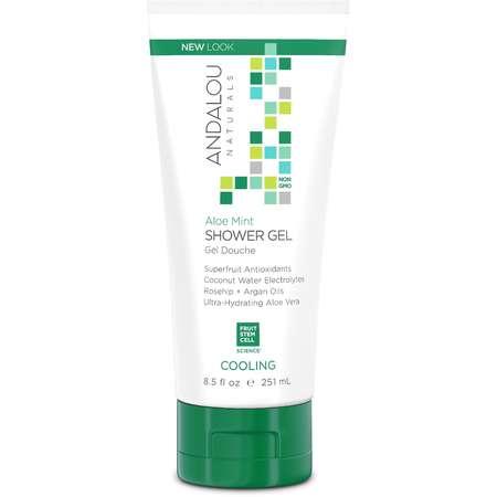 Gel de dus Aloe Mint Cooling Shower Gel Andalou Naturals 251ml