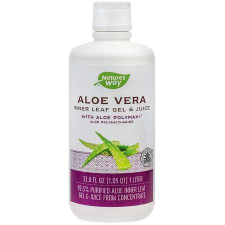 Supliment alimentar Aloe Vera Gel & Juice with Aloe PolyMax+™ Nature's Way 1000ml