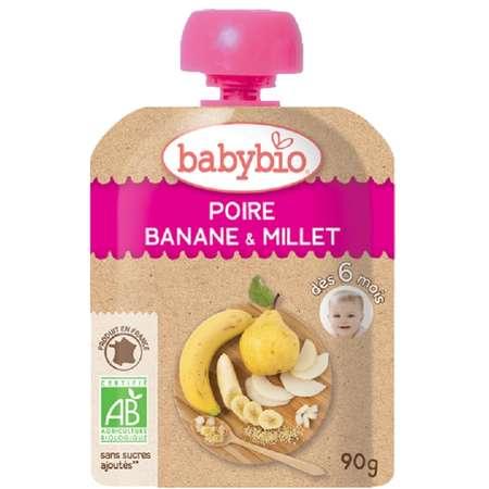 Piure Pouch de Pere Banane și Mei Babybio 90g