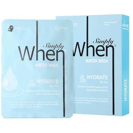 Set Masca Hidratanta When cu Acid Hialuronic si Aloe Vera Water Wish 115g